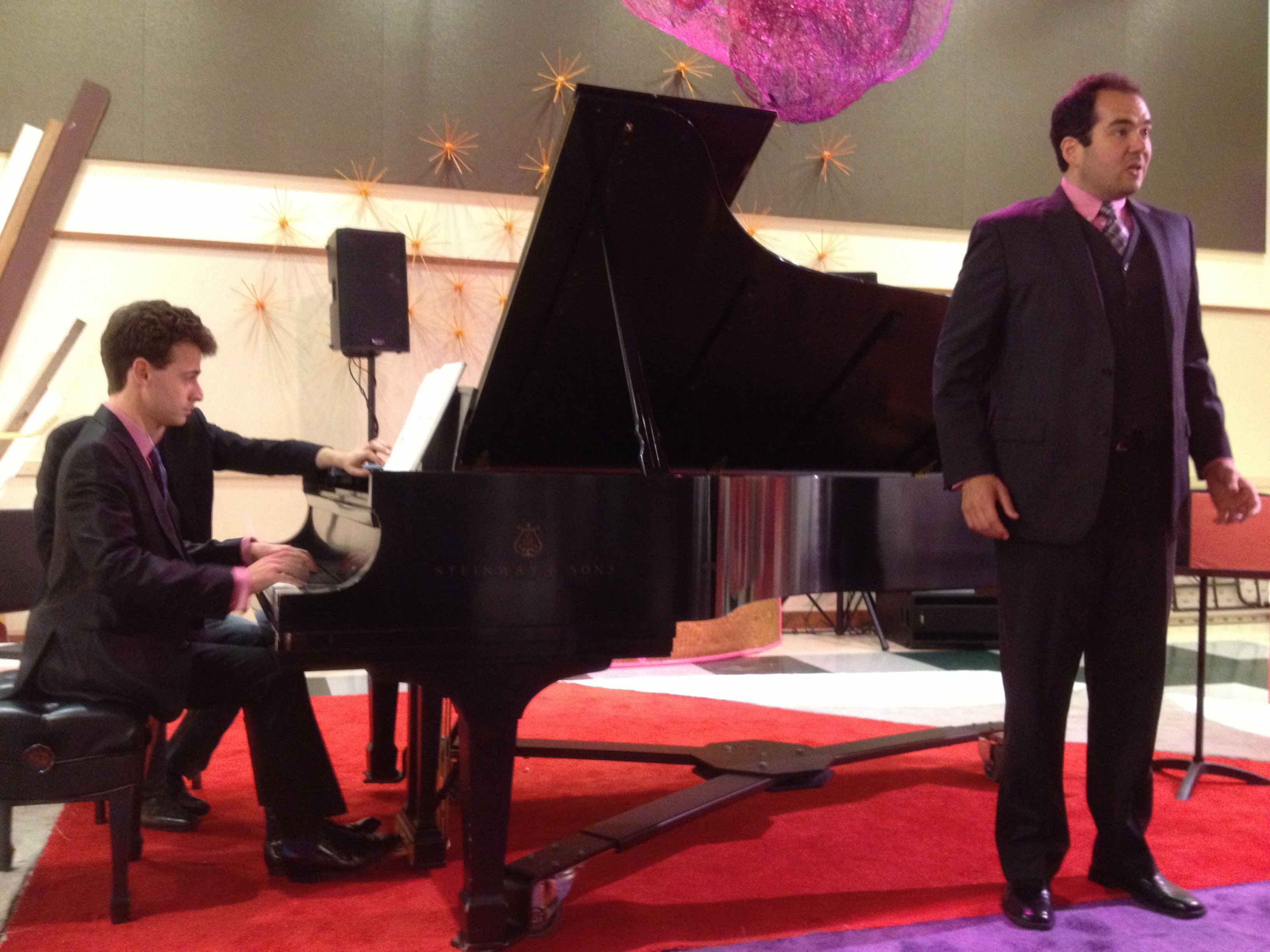 Pianist George Lepauw and tenor Dominic Armstrong