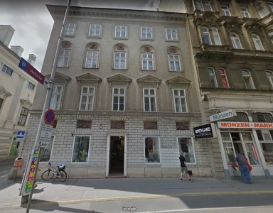 Google street view of the apartment building that Beethoven is leaving behind. Auerspergstrasse 3 (then known as the Fingerlingsches Haus)